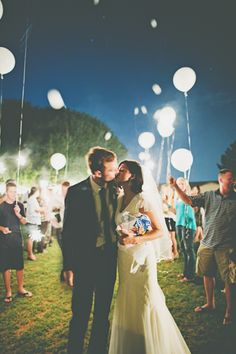 Lighted balloon - Backyard Mesa Wedding --- @Emma Brooks i'm stealing this idea from youuuuu!