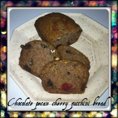 Zucchini Bread with Chocolate, Cherries and Pecans