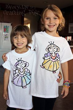 Homemade Kids' Coloring T-Shirts ... Have to Make