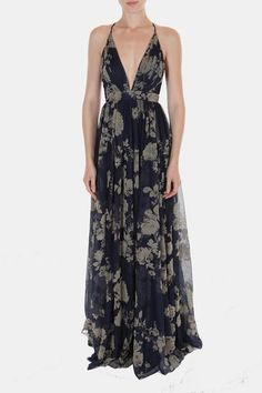 Enchantress Gown Navy Floral