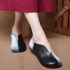 (32.40$)  Buy here - http://ai03n.worlditems.win/all/product.php?id=32796063707 - 2017 new original retro art handmade single shoes women flats genuine leather shoes flat bottom round shallow mouth female shoes