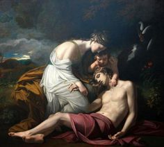 Venus Lamenting The Death Of Adonis - Benjamin West (1738 – 1820)