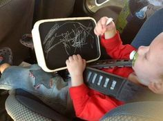 As a way to keep kids busy on road trips.
