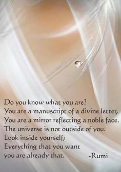 Look inside yourself #rumi #quotes
