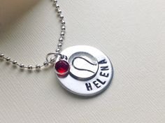 Personalized Tennis necklace tennis jewelry sports by Stamptations