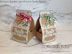 """The Craft Spa - Stampin' Up! UK independent demonstrator - Order Stampin Up in UK: Christmas """"Chocolate Ball"""" Treat Holder Jar Christmas Favors, 3d Christmas, Christmas Paper Crafts, Christmas Chocolate, Stampin Up Christmas, Handmade Christmas, Christmas Games, Christmas Ideas, Cadeau Surprise"""