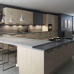 Sigdal kjøkken - Nordisk Decor, Furniture, Kitchen Island, Room, House, Room Interior, Table, Home Decor, Kitchen