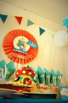 O mundo está mais azul esta semana... Os Smurfs vieram à festa da Luisinha festejar o seu 5ª aniversário.