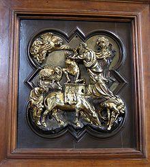 Filippo Brunelleschi, Sacrificio di Isacco, 1401, bronzo con durature, Museo del Bargello, Firenze