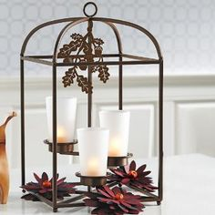 Framework Candle Lantern by PartyLite. Traditional, modern, earthy, centerpiece or hanging, customize for any season year round! More ideas here : http://www.partylite.biz/legacy/sites/nikkihendrix/productcatalog?page=productdetail&sku=P91322&categoryId=55408&showCrumbs=true