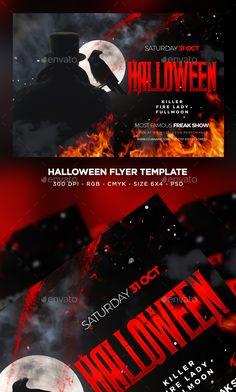 halloween flyer clubs parties events