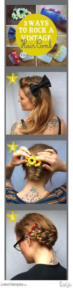 vintage hair comb tutorial