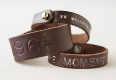 Stamped Leather Bracelet by Alix Bluh. http://api.creativebug.com/workshops/stamped-leather-bracelet.   Creativebug - Craft classes to delight your creative side.