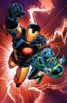 Iron Man (Tony Stark) and Recorder 451 by Carlo Pagulayan Comic Book Superheroes, Comic Book Heroes, Comic Books Art, Comic Art, Fun Comics, Marvel Comics, Superior Iron Man, Mundo Marvel, Iron Man Tony Stark