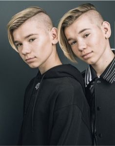 Marcus and Martinus Carson Lueders, Cute Twins, Mens Hair Trends, Bald Fade, Comb Over, Twin Brothers, Crew Cuts, Perfect Boy, Fade Haircut