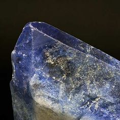 Mineral Species:  Benitoite.  It is California's official state gemstone.  From the Benitoite #1 Gem Mine, San Benito County.