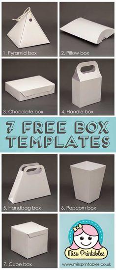 - Baskets and Boxes - 10 Genius Gift Wrapping Hacks free printable box templates. Printable Box, Printable Templates, Templates Free, Free Printables, Freebies Printable, Papier Diy, Free Boxes, Diy Box, Diy Paper Box