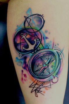 rainbow compass tattoo - Google Search