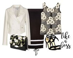 """""""flowers top & bottom"""" by rvazquez ❤ liked on Polyvore featuring Puma, Bark, Alexandre Birman and Rochas"""