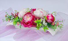 Kompozycja kwiatowa na stół - Peonia różowa