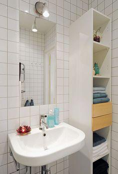 Narrow Towel Shelf for bathroom storage
