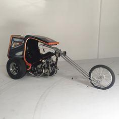"dicemagazine: "" It's begins! (at Root Studios) "" Custom Trikes For Sale, Custom Choppers, Custom Motorcycles, Custom Bikes, Motorcycle Campers, Trike Scooter, Monster Bike, Antique Motorcycles, Motor Harley Davidson Cycles"