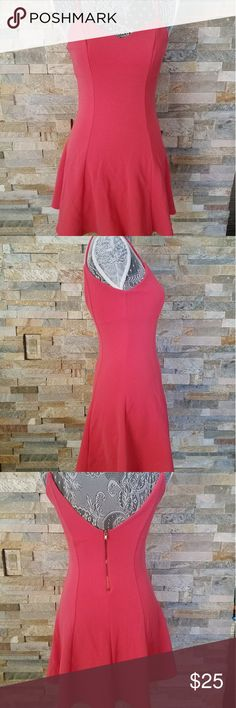 Coral pink skater dress Beautiful pink skater dress ready for the warm summer months! Pair with some wedges for a sexy date night look or cute sandals for a more casual #ootd. No snags or signs of wear, straps are not adjustable Dresses Mini