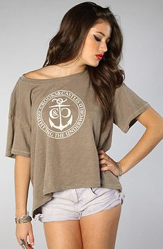The Underworld Cropped Top in Heather Gray by Crooks and Castles