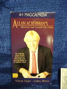 ALLAN ACKERMAN ADVANCED CARD CONTROL VHS TAPE  Collectibles:Fantasy, Mythical & Magic:Magic:Books, Lecture Notes www.webrummage.com $7.99