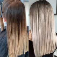 Are you going to balayage hair for the first time and know nothing about this technique? We've gathered everything you need to know about balayage, check! Balayage Hair Honey, Ombre Hair, Beige Blonde Balayage, Silver Blonde, Ash Blonde, Blonde Hair Looks, Blonde Hair Long Bob, Short Blonde, Straight Hairstyles