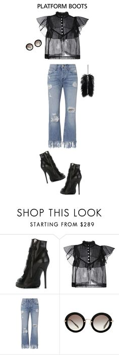 """""""The Alexander McQueen Buckled Ankle Boot"""" by barngirl ❤ liked on Polyvore featuring Alexander McQueen, Natasha Zinko, 3x1, Miu Miu and MM6 Maison Margiela"""