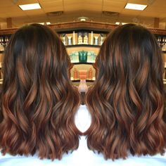 Long Wavy Ash-Brown Balayage - 20 Light Brown Hair Color Ideas for Your New Look - The Trending Hairstyle Balayage Straight, Brown Hair Balayage, Brown Hair With Highlights, Ombre Hair, Auburn Balayage, Fall Balayage, Auburn Hair Highlights, Carmel Highlights, Soft Balayage