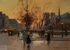 Quai de Montebello, Notre-Dame - (Edouard Cortes)