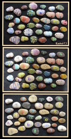 Fish stones for Math Activities from Stimulating Learning with Rachel
