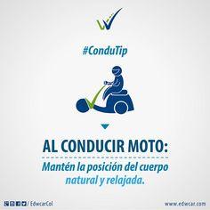 Motociclista: tu cuerpo es tu aliado a la hora de conducir. Una buena postura puede salvar tu #VidaEnLaVía. Spanish, Tips, Home Decor, Industrial Safety, Road Traffic Safety, Auto Detailing, Good Posture, Culture