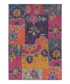 Love this Pink & Orange Prismatic Spectrum Rug by Oriental Weavers on #zulily! #zulilyfinds