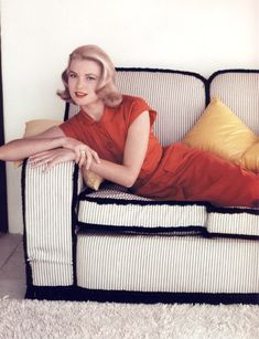 I am kind of obsessed with Grace Kelly's couch
