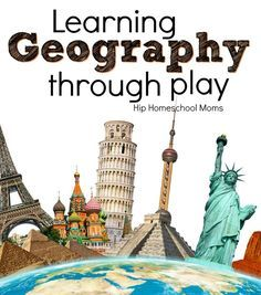 Learning Geography Through Plays offers suggestions for fun ways to learn both World and United States Geography with games and hands on fun! Geography For Kids, Geography Activities, Geography Lessons, Teaching Geography, Educational Activities, World Geography Games, Dinosaur Activities, Human Geography, History Education