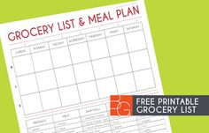 Like this weekly meal and grocery planner. And it's free! groceryprintable3