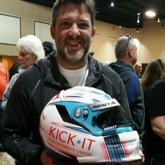 """Tony Stewart is the winning bidder on the Jeff Gordon Foundation, KICK IT helmet at the Chili Bowl today. Special Thanks to Tony for his support of the…"""