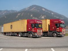 Scania truck with ISO (shipping) container Container Transport, 40 Container, Freight Transport, Custom Big Rigs, Cab Over, Cars And Motorcycles, Transportation, Abs, Trucks