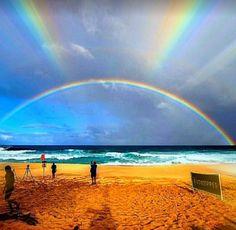 Somewhere over the rainbow.the rainbow is real. Beautiful Sky, Beautiful World, Beautiful Landscapes, Beautiful Places, Beautiful Pictures, Love Rainbow, Over The Rainbow, Rainbow Dash, All Nature