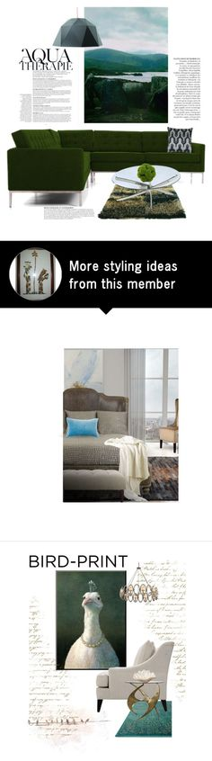 """Mossy Water"" by jesking on Polyvore featuring interior, interiors, interior design, home, home decor, interior decorating, Tulu, Joybird Furniture, Anja and Magnussen Home"