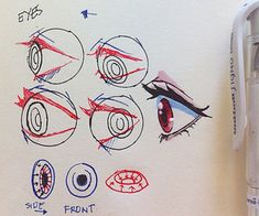 -How to draw eyes- credit to @017m at Instagram