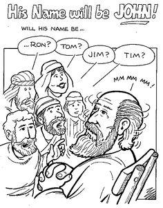 Lesson 26- John the Baptist; color then glue small pieces
