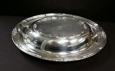 Silverplate Serving Dish with Lid  by F.B. ROGERS #412  #FBROGERS $17.00