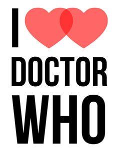 I ♥♥ Doctor Who Art Print