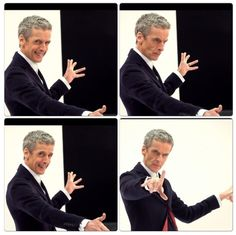 Peter Capaldi's hands. Trying to channel his inner Doctor.