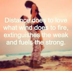 Distance does to love what wind does to fire; ...