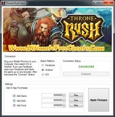 New Throne Rush Hack – Unlimited Gems download working tool undetected.File updated 2016. No survey download new for Throne Rush Hack – Unlimited Gems